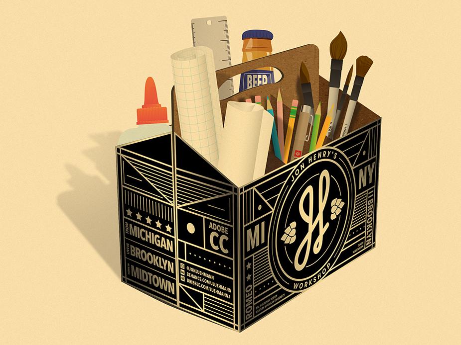Jon Henry's Tool Kit illustrator typography design graphic logo vector gradient branding color illustration brushes adobe