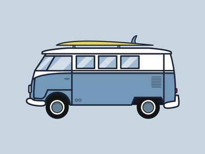 VW Bus vw bus truck illustration daily dribbble surf volkswagen vw bus