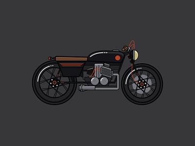Racer illustration racer cafe racer cycle bike motorcycle