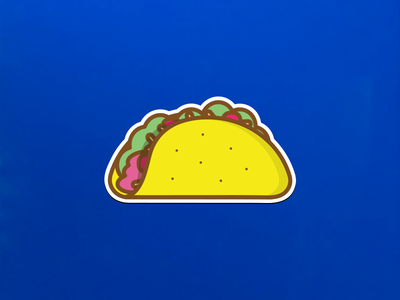 Tacos in the fridge and on the fridge illustration taco magnets tacos
