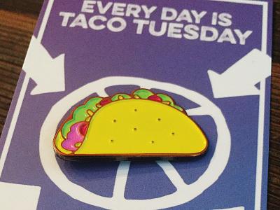 Soft Enamel Taco Pin food lapel pin soft enamel pin game pin tacos taco