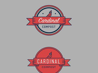 Cardinal Compost bird illustration badge mark cardinal