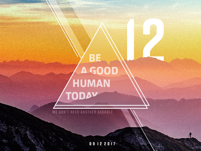 Be A Good Human Today doodle daily