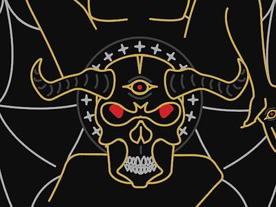 Devil Tarot lines illustration tarot devil