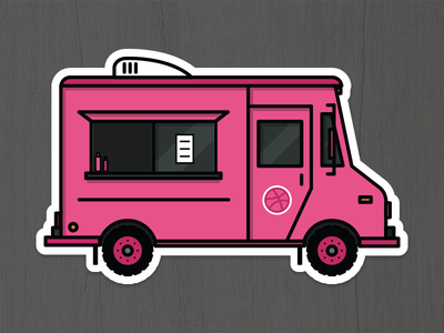 Order up! rebound sticker mule taco truck