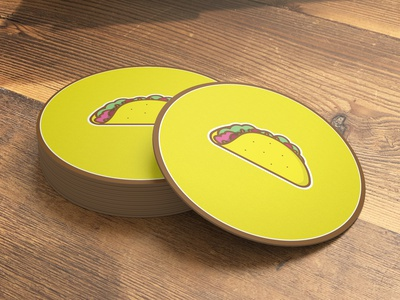 Taco Coasters food taco illustration tacos