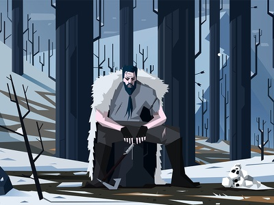 The man from Estra's dream winter video vector snow photoshop paint illustration games design colours character art