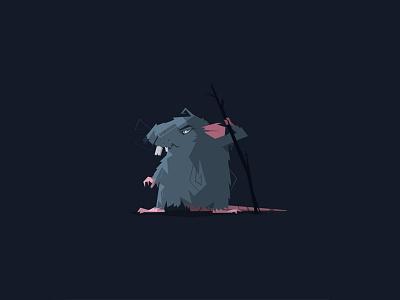 Ragar the grumpy rat concept art graphic design character design vector art character atone vector art design illustration