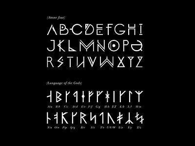 ATONE's fonts art graphic design viking norse atone font design type illustration