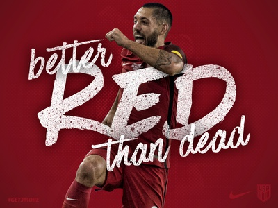 Better Red than Dead usmnt graphic design soccer sports
