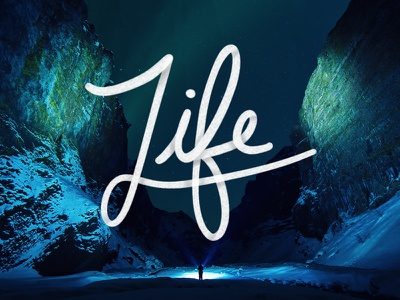 Life procreate ipad pro typography life hand drawn
