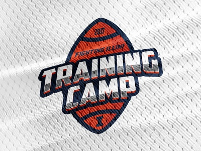 Fighting Illini Football Training Camp Logo logo logos college football illini graphic design football
