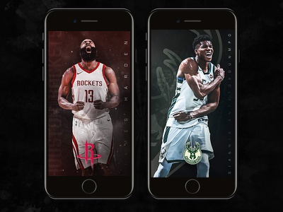 NBA Wallpaper Wednesdays iphone wednesday wallpaper bucks rockets houston milwaukee sports basketball nba