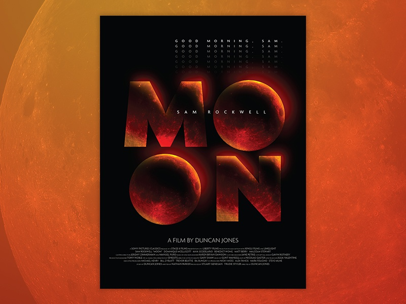 Moon Poster event full orange red poster movie moon