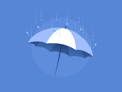 Don't get hit with fees tally money protection rain fees umbrella illustration