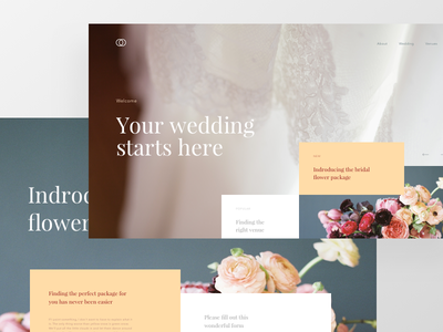 Wedding Concept bridal grid wedding offset concept modern ux ui lander