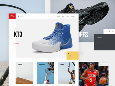 Anta Concept basketball shoes sports design concept lander ux ui