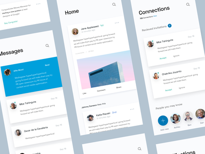 LinkedIn App Concept app design color mobile ios concept ux ui