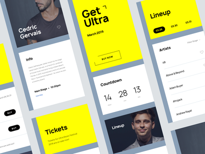 Music Fest App Concept app music app festival music design mobile ios ux ui