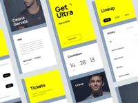 Music Fest App Concept