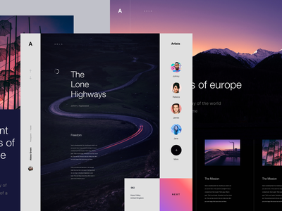 Blog Concept desktop web blog color design concept lander ux ui