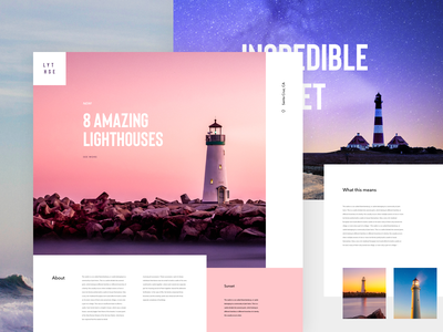 Light House typography color logo design lander concept ux ui