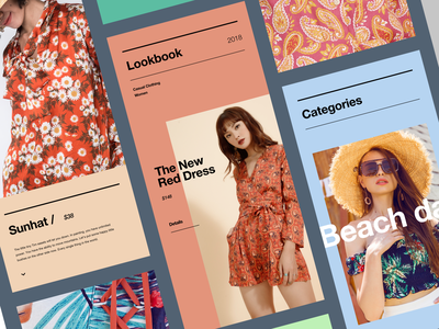 Lookbook App Concept color app design mobile ios concept ux ui
