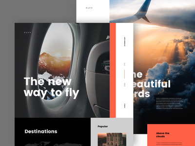Fly away concept plane fly travel desktop design mobile ios lander concept ux ui