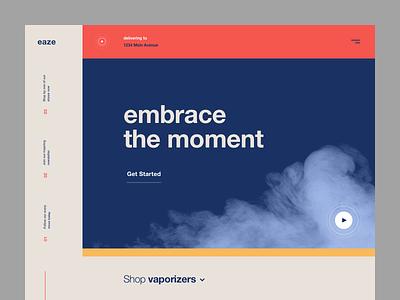 Eaze Redesign weed branding typography design lander concept ux ui