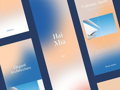 HM Architecture Concept typography elegant blur fade color architecture mobile ios concept ux ui