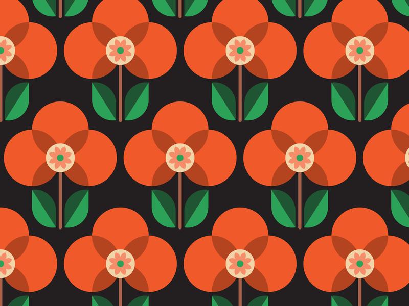 Mid Mod Pattern hygge floral pattern