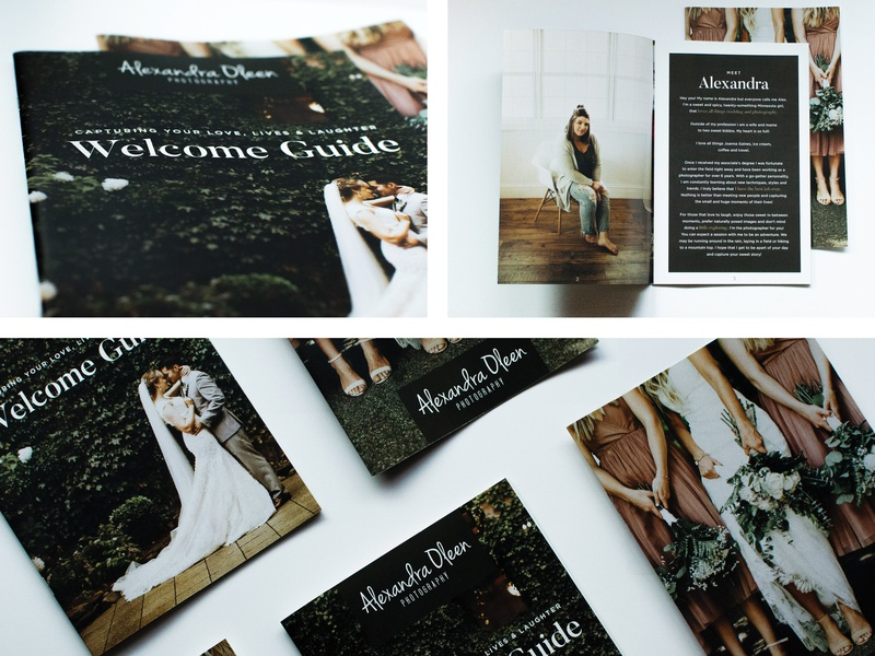 Photography Welcome Guide session guide photography booklet welcome guide booklet