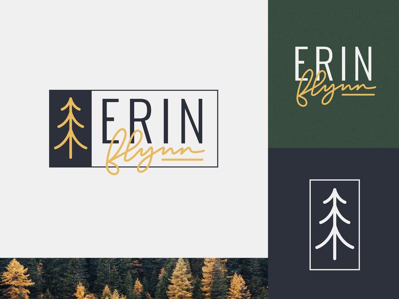 Erin Flynn Branding brand lettering nature branding