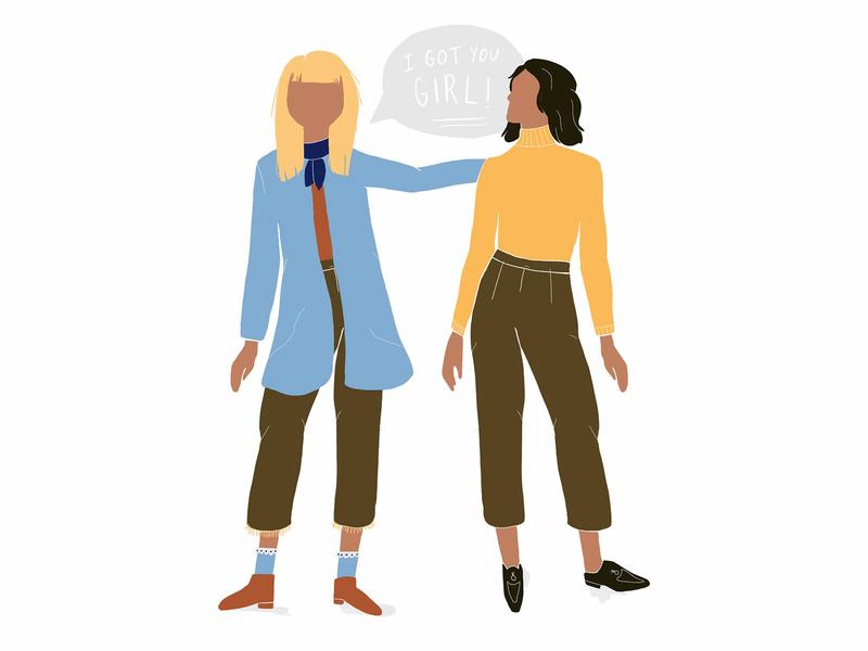 I got you girl! illustration female ladies international womens day