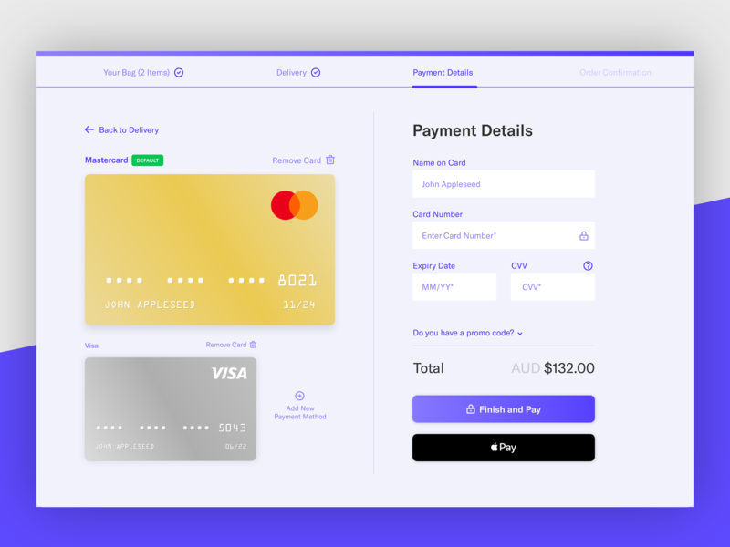 Ecommerce Credit Card Checkout Page daily100 userinterface adobe illustrator cc rgb purple ecommerce shopping cart apple pay desktop application credit card design dailyui002 credit card checkout credit card adobe xd 002