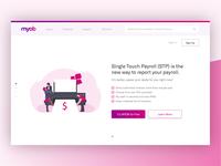 MYOB Landing Page Redesign