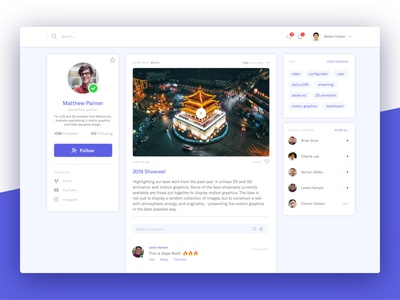 User Profile with News Feed