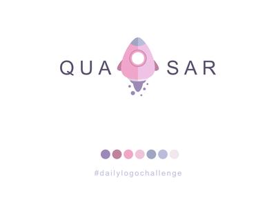 Quazar Logo - Rocketship