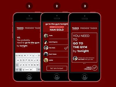OR Else - Creating Tasks facebook ios app todo tasks iphone