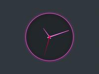 Hot Pink Clock