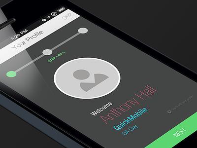 Hackathon App Mock-up hackathon mockups ui mobile app profile flow