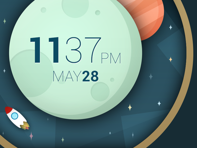 Space And Time illustration space moto360 watch androidwear