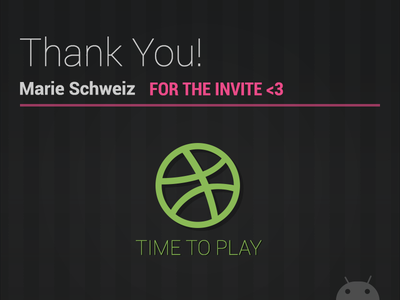 Thanks for the invite thanks ball debut invite dribbble thank you first shot