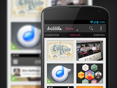 Dribbble Android App dribbble android ui app holo concept popular