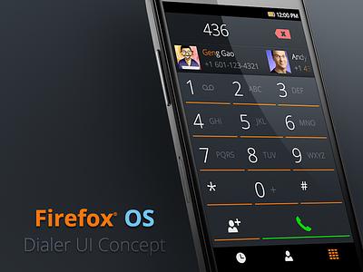 Firefox OS Dialer UI Concept mobile dialer ui concept b2g firefox os