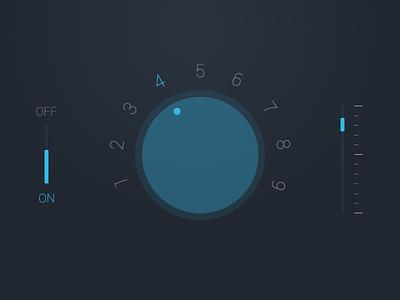 Audio UI Rebound audio android ui slider switch wheel button rebound