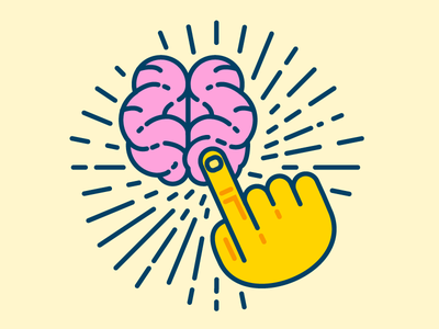 Touch a Brain intracranial touch gestrue knuckle fingernail hand touch pointer finger brain