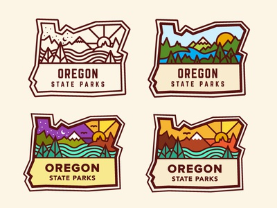 Oregon State Parks - Color Study