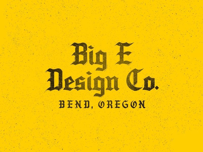 Black & Yellow graphic design logo vector oregon bend oregon meduza logotype blackletter typography branding