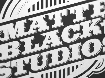 Matte Black Studios Mural Work mural vector seal typography matte black studios